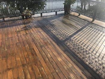 Bribie Island Before Enviro-Deck Low VOC oil coating and Finish for Timber Surfaces