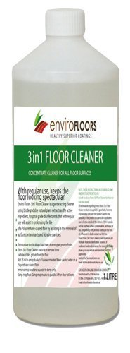 ENVIRO FLOORS 3 IN 1 TIMBER FLOOR CLEANER is a gentle acting cleaner which uses biodegradable hospital grade disinfectant