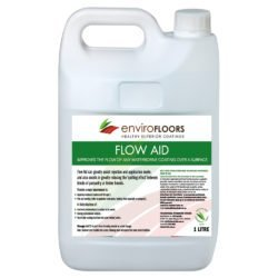 ENVIRO FLOORS FLOW AID improving flow while reducing the surface tension